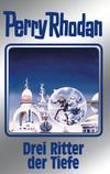 Vergrößerte Darstellung Cover: Perry Rhodan 144: Drei Ritter der Tiefe (Silberband). Externe Website (neues Fenster)