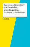 """Joseph von Eichendorff, """"Aus dem Leben eines Taugenichts"""""""