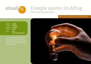 Energie sparen im Alltag
