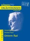 Erläuterungen zu Hermann Hesse, Unterm Rad