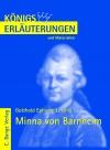 Vergrößerte Darstellung Cover: Erläuterungen zu Gotthold Ephraim Lessing, Minna von Barnhelm. Externe Website (neues Fenster)