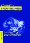 Vergrößerte Darstellung Cover: Erläuterungen zu Siegfried Lenz, Deutschstunde. Externe Website (neues Fenster)