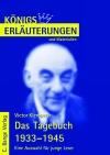 Erläuterungen zu Victor Klemperer, Das Tagebuch 1933 - 1945, eine Auswahl für junge Leser