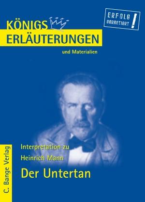 Erläuterungen zu Heinrich Mann, Der Untertan