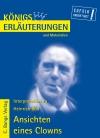 Vergrößerte Darstellung Cover: Erläuterungen zu Heinrich Böll, Ansichten eines Clowns. Externe Website (neues Fenster)