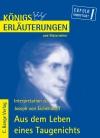 Vergrößerte Darstellung Cover: Erläuterungen zu Joseph von Eichendorff, Aus dem Leben eines Taugenichts. Externe Website (neues Fenster)