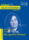 Vergrößerte Darstellung Cover: Erläuterungen zu Christa Wolf, Der geteilte Himmel. Externe Website (neues Fenster)