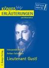 Erläuterungen zu Arthur Schnitzler, Lieutenant Gustl