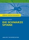 """Vergrößerte Darstellung Cover: Textanalyse und Interpretation zu Jeremias Gotthelf, """"Die schwarze Spinne"""". Externe Website (neues Fenster)"""