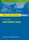 """Vergrößerte Darstellung Cover: Textanalyse und Interpretation zu Hermann Hesse, """"Unterm Rad"""". Externe Website (neues Fenster)"""