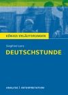 """Textanalyse und Interpretation zu Siegfried Lenz, """"Deutschstunde"""""""