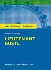 """Textanalyse und Interpretation zu Arthur Schnitzler, """"Lieutenant Gustl"""""""