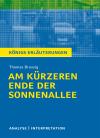 """Textanalyse und Interpretation zu Thomas Brussig, """"Am kürzeren Ende der Sonnenallee"""""""