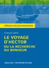 """Textanalyse und Interpretation zu François Lelord, """"Le Voyage d'Hector ou la recherche du bonheur"""""""