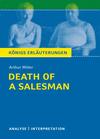 """Vergrößerte Darstellung Cover: Textanalyse und Interpretation zu Arthur Miller, """"Death of a salesman"""". Externe Website (neues Fenster)"""