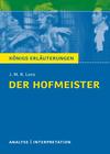"""Textanalyse und Interpretation zu Jakob Michael Reinhold Lenz, """"Der Hofmeister"""""""