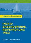 """Vergrößerte Darstellung Cover: Textanalyse und Interpretation zu Uwe Johnson, """"Ingrid Babendererde. Reifeprüfung 1953"""". Externe Website (neues Fenster)"""
