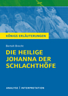 """Vergrößerte Darstellung Cover: Textanalyse und Interpretation zu Bertolt Brecht, """"Die heilige Johanna der Schlachthöfe"""". Externe Website (neues Fenster)"""