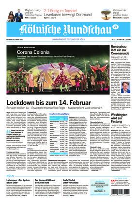 Kölnische Rundschau (20.01.2021)