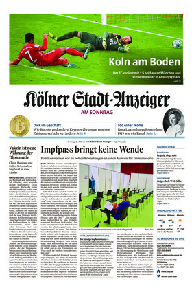 Kölner Stadt-Anzeiger / Rhein-Sieg-Anzeiger (28.02.2021)