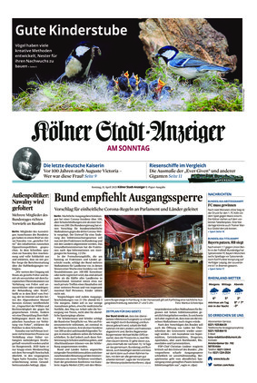 Kölner Stadt-Anzeiger / Rhein-Sieg-Anzeiger (11.04.2021)