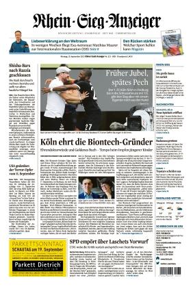 Kölner Stadt-Anzeiger / Rhein-Sieg-Anzeiger (13.09.2021)