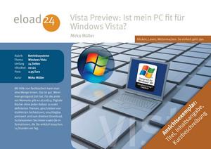 Vista Preview: Ist mein PC fit für Windows Vista?