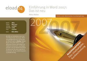 Einführung in Word 2007: Das ist neu