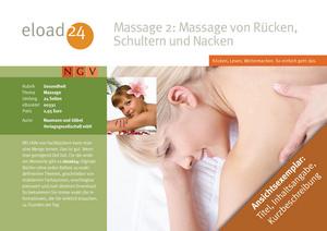 Massage 2: Rücken, Schultern und Nacken