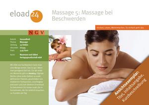 Massage 5: Massage bei gesundheitlichen Beschwerden