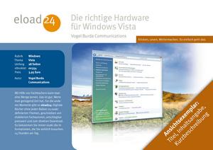 Die richtige Hardware für Windows Vista