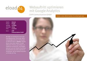 Webauftritt optimieren mit Google Analytics