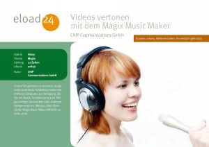 Videos vertonen mit dem Magix Music Maker
