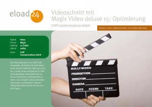 Videoschnitt mit Magix Video deluxe 15