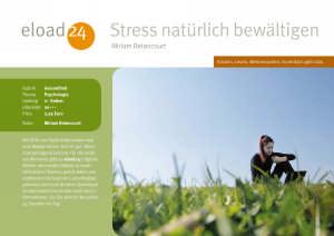 Stress natürlich bewältigen