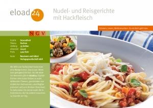 Nudel- und Reisgerichte mit Hackfleisch