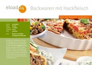 Backwaren mit Hackfleisch