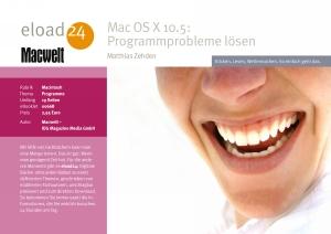 Mac OS X 10.5: Programmprobleme lösen