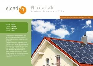 Photovoltaik - so scheint die Sonne auch für Sie