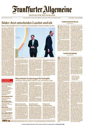 Frankfurter Allgemeine Zeitung (18.01.2021)