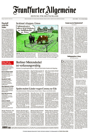 Frankfurter Allgemeine Zeitung (16.04.2021)