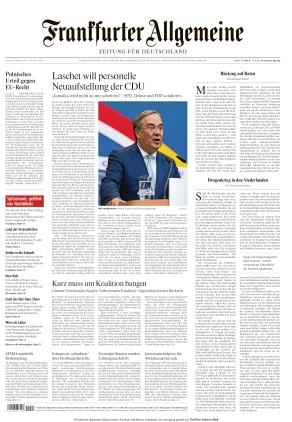 Frankfurter Allgemeine Zeitung (08.10.2021)
