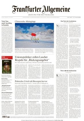 Frankfurter Allgemeine Zeitung (09.10.2021)