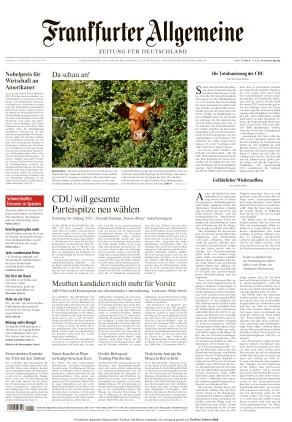 Frankfurter Allgemeine Zeitung (12.10.2021)