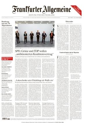 Frankfurter Allgemeine Zeitung (16.10.2021)