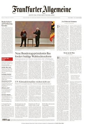 Frankfurter Allgemeine Zeitung (27.10.2021)