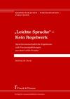 """Vergrößerte Darstellung Cover: """"Leichte Sprache"""" - Kein Regelwerk. Externe Website (neues Fenster)"""