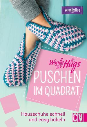 Woolly Hugs Puschen häkeln im Quadrat