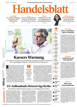 Handelsblatt (25.01.2021)