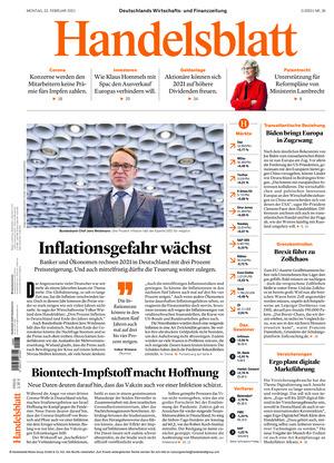 Handelsblatt (22.02.2021)